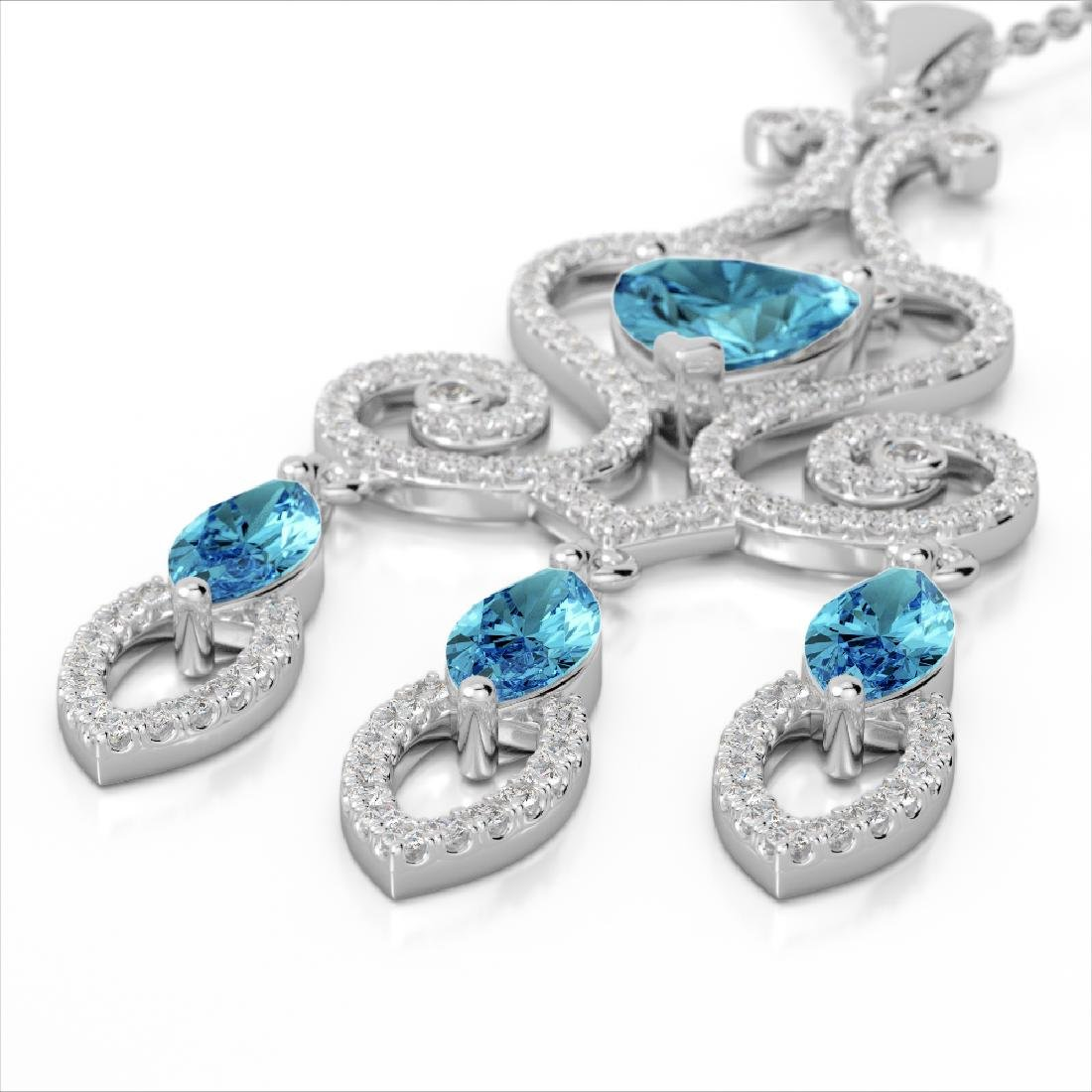 5.50 CTW Sky Blue Topaz & Micro VS/SI Diamond Heart