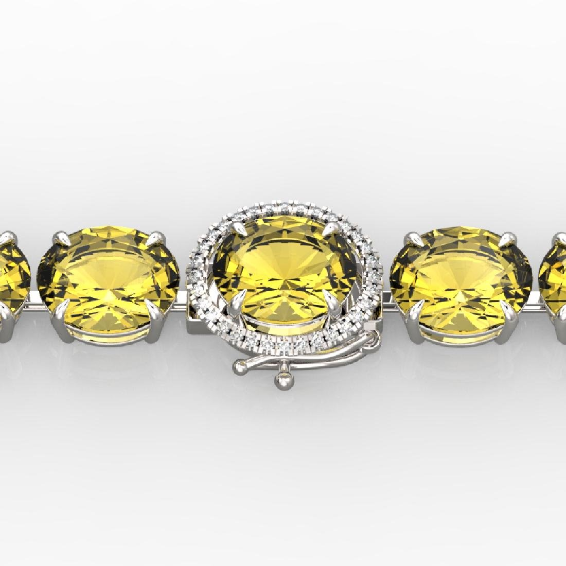 78 CTW Citrine & Micro VS/SI Diamond Halo Designer