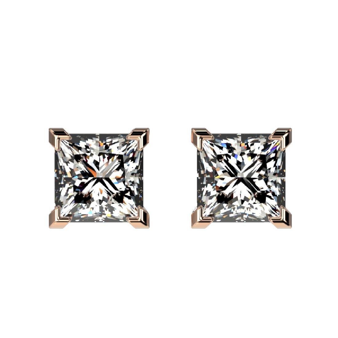 1 CTW Certified VS/SI Quality Princess Diamond Stud