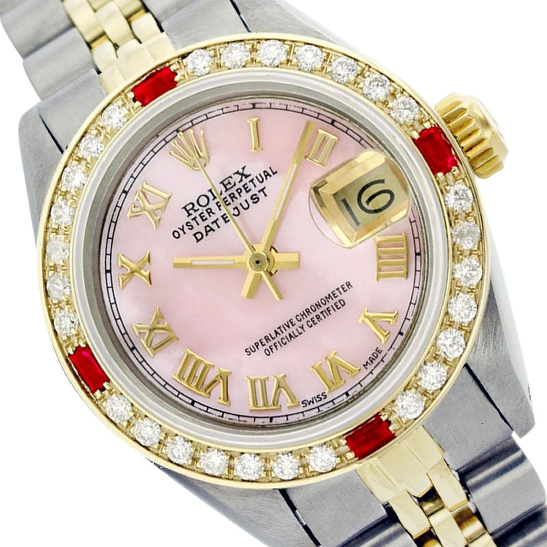 Rolex Ladies Two Tone 14K Gold/ss, Roman Dial with
