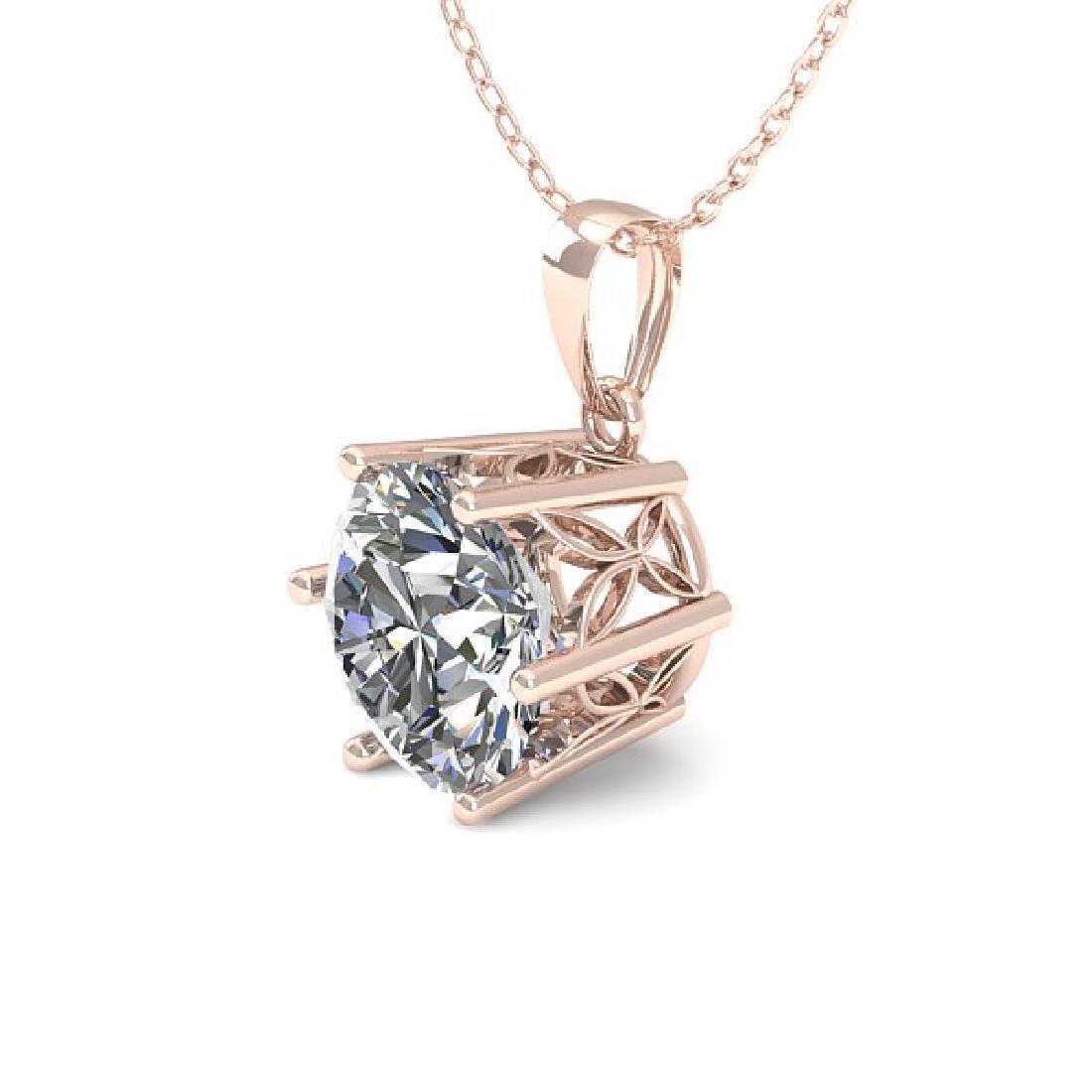 0.50 CTW VS/SI Diamond Art Deco Necklace 14K Rose Gold