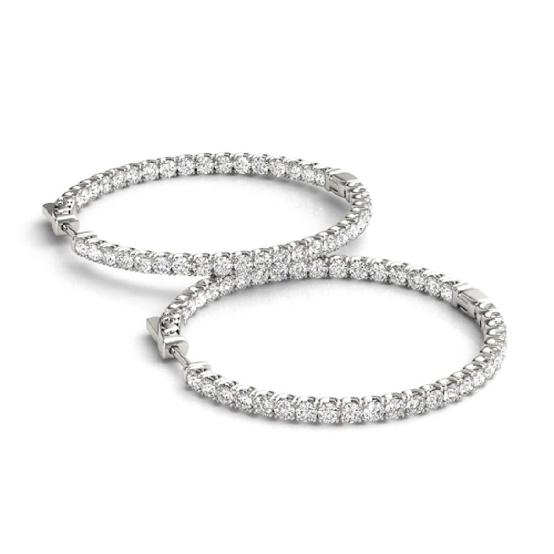 3.25 CTW Diamond VS/SI Certified 35 Mm Hoop Earrings