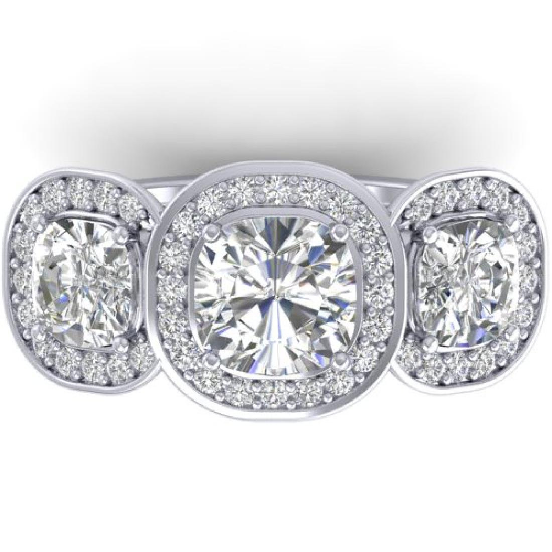 2.7 CTW Cushion Cut Certified VS/SI Diamond Art Deco 3