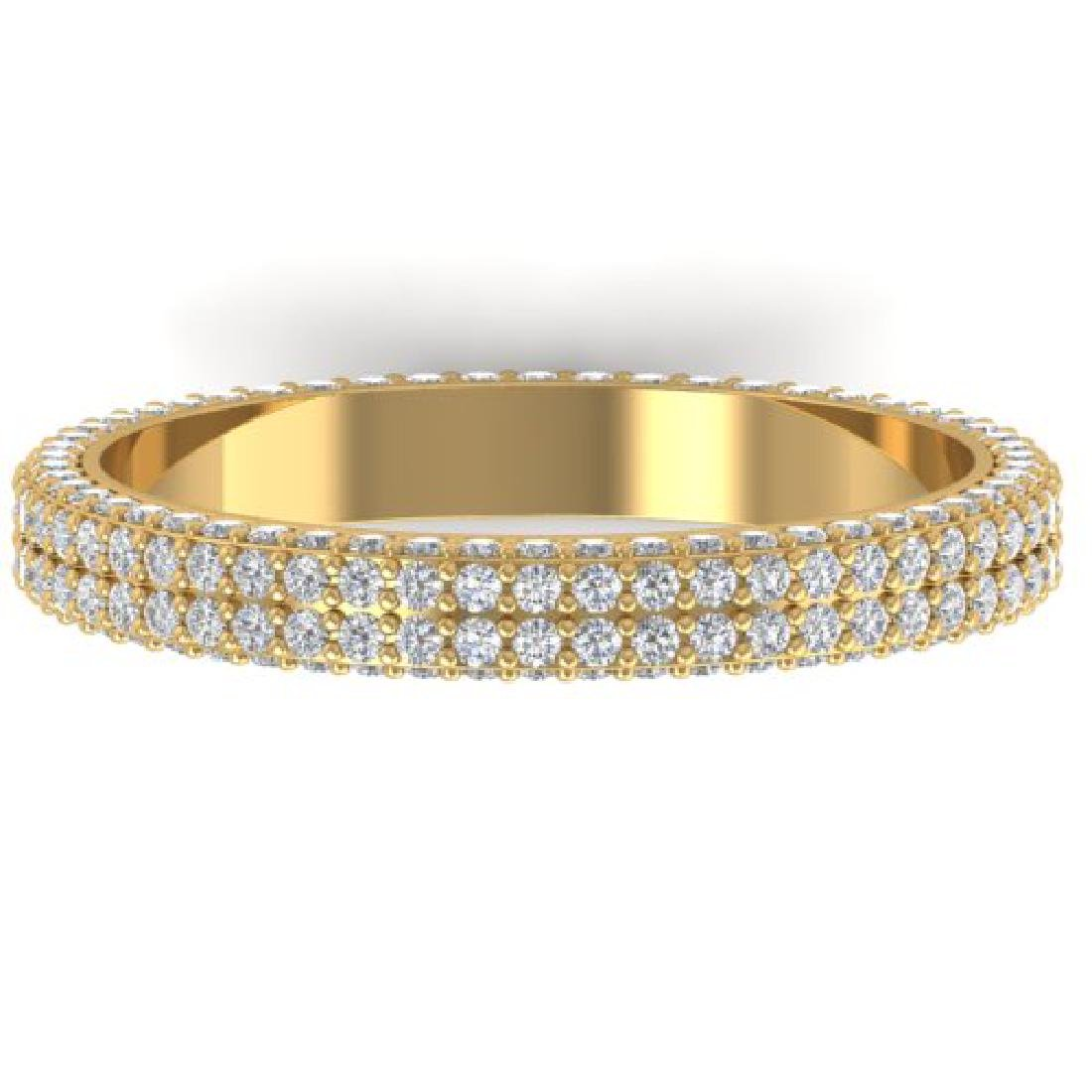 1.75 CTW Certified VS/SI Diamond Micro Eternity Ring