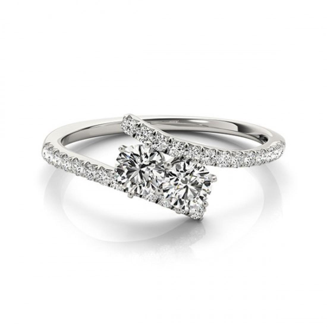 1 CTW Certified VS/SI Diamond 2 Stone 2 Stone Ring 14K