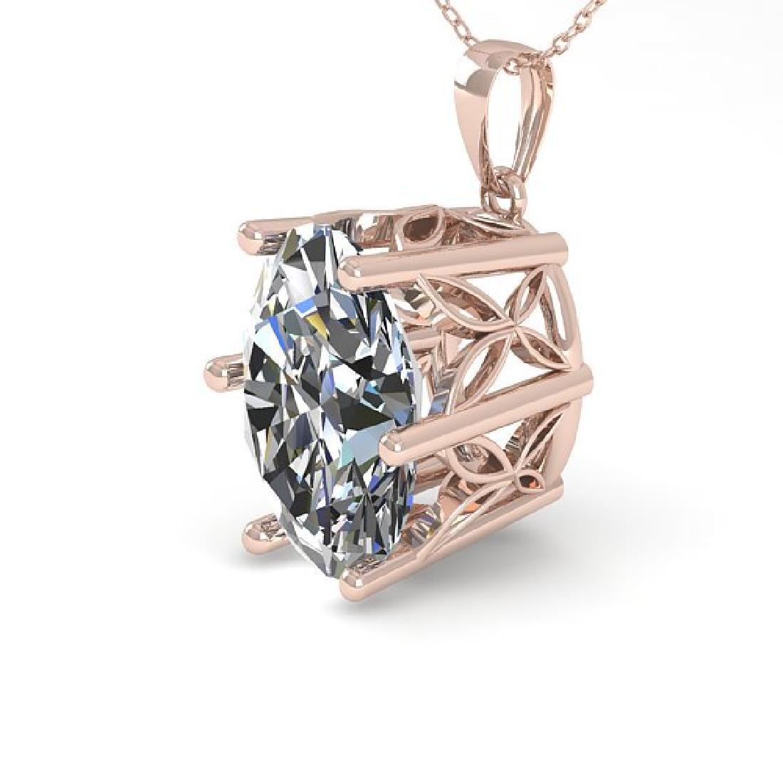 1 CTW Certified VS/SI Oval Diamond Art Deco Necklace