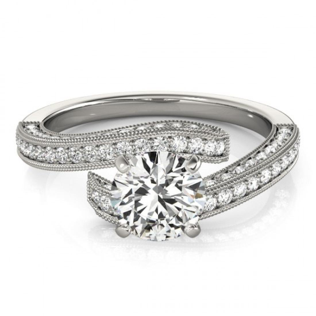 1.5 CTW Certified VS/SI Diamond Bypass Solitaire Ring