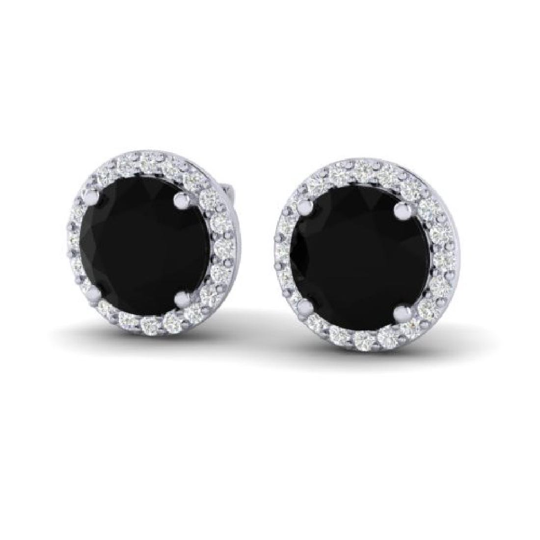 4 CTW Halo VS/SI Diamond Micro Pave Earrings Solitaire
