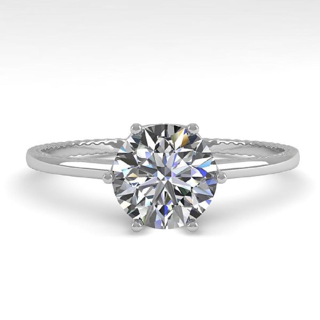 1.0 CTW VS/SI Diamond Art Deco Ring 14K White Gold