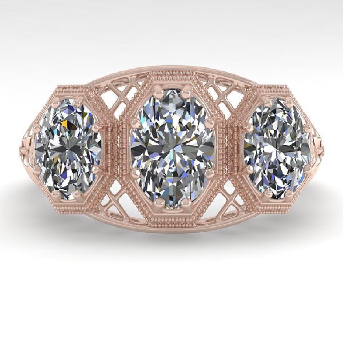 2 CTW VS/SI Oval Cut Diamond Ring 14K Rose Gold