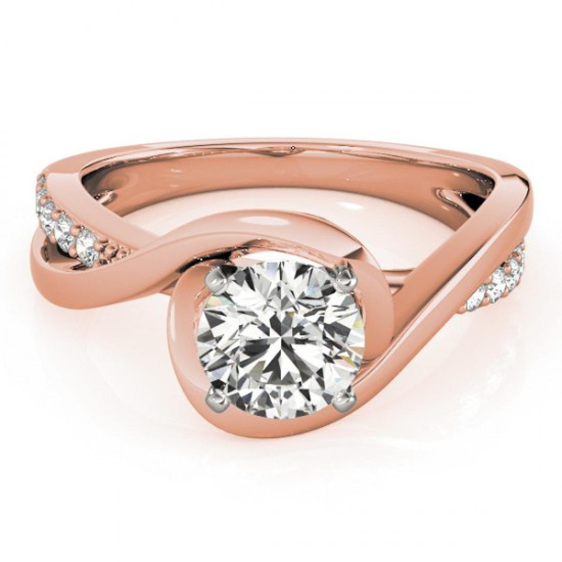 1.15 CTW Certified VS/SI Diamond Solitaire Ring 14K