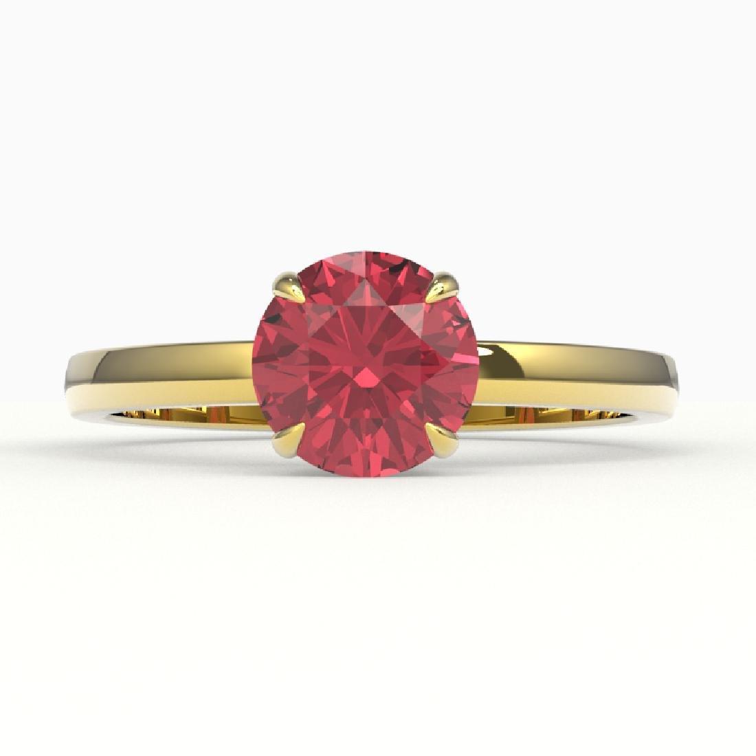 2 CTW Pink Tourmaline Designer Inspired Solitaire