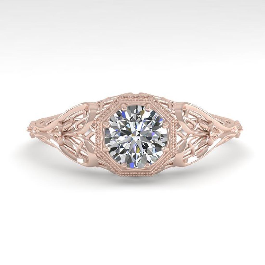 0.50 CTW VS/SI Diamond Solitaire Ring 14K Rose Gold