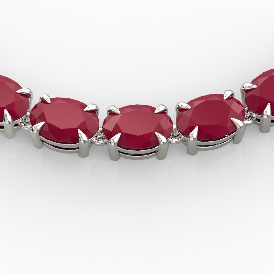 68 CTW Ruby Eternity Designer Inspired Tennis Necklace
