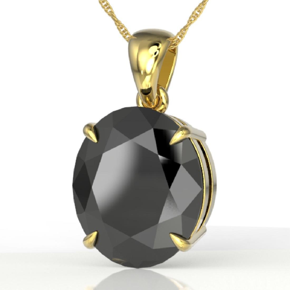 9 CTW Black VS/SI Diamond Designer Solitaire Necklace