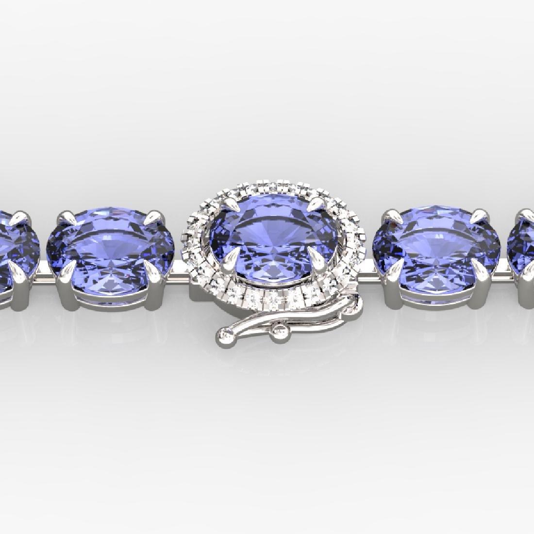 32 CTW Tanzanite & VS/SI Diamond Eternity Micro Halo