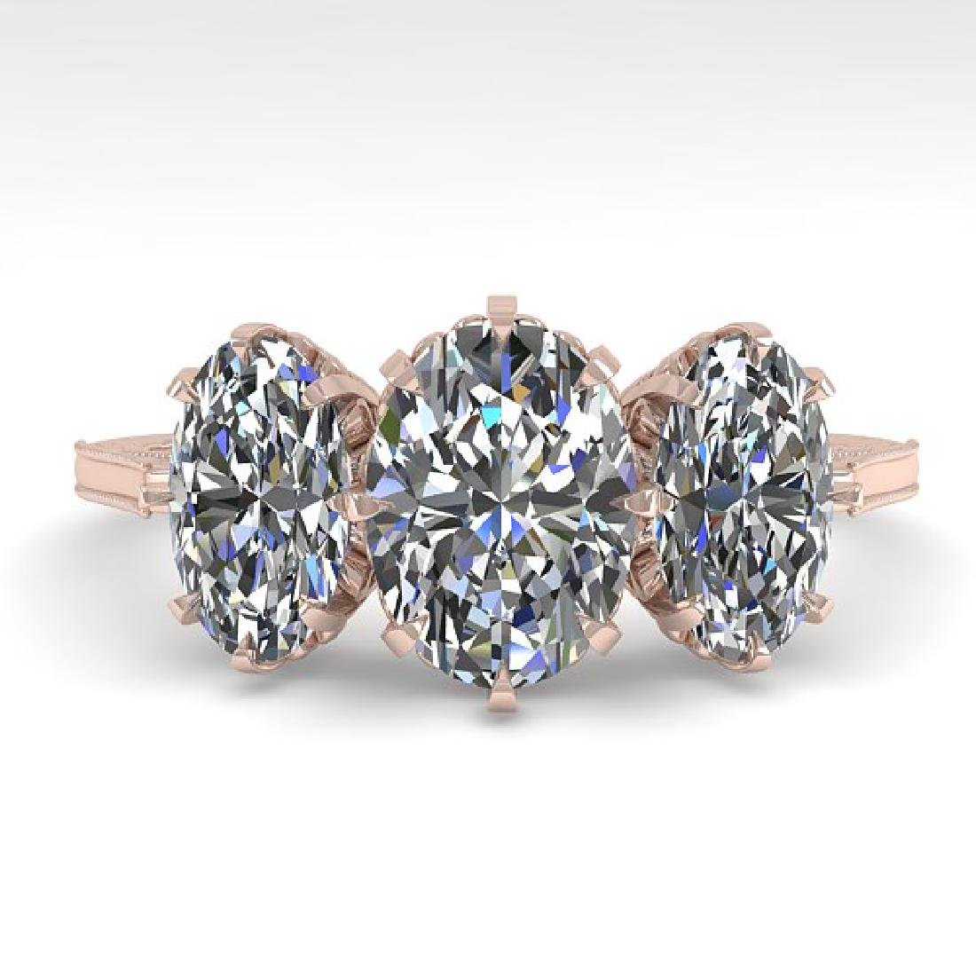 2 CTW Solitaire VS/SI Oval Cut Diamond 14K Rose Gold