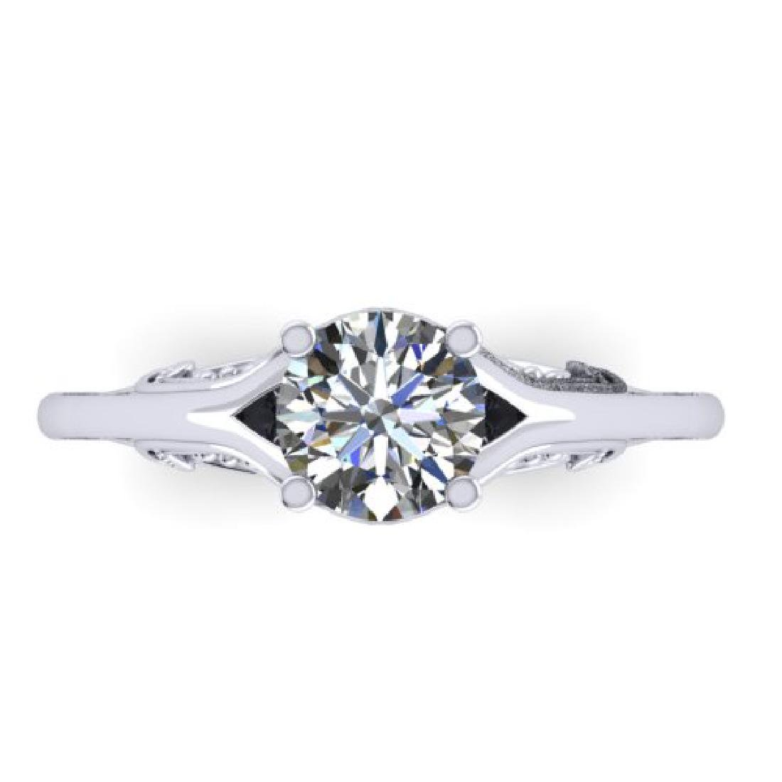 1 CTW Solitaire Certified VS/SI Diamond Ring 18K White