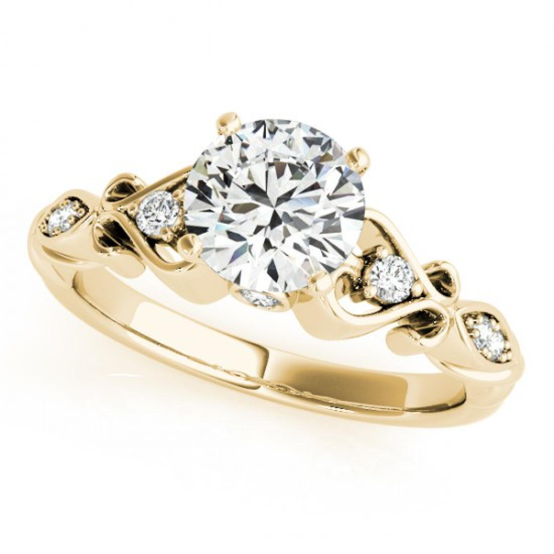 1.15 CTW Certified VS/SI Diamond Solitaire Antique Ring