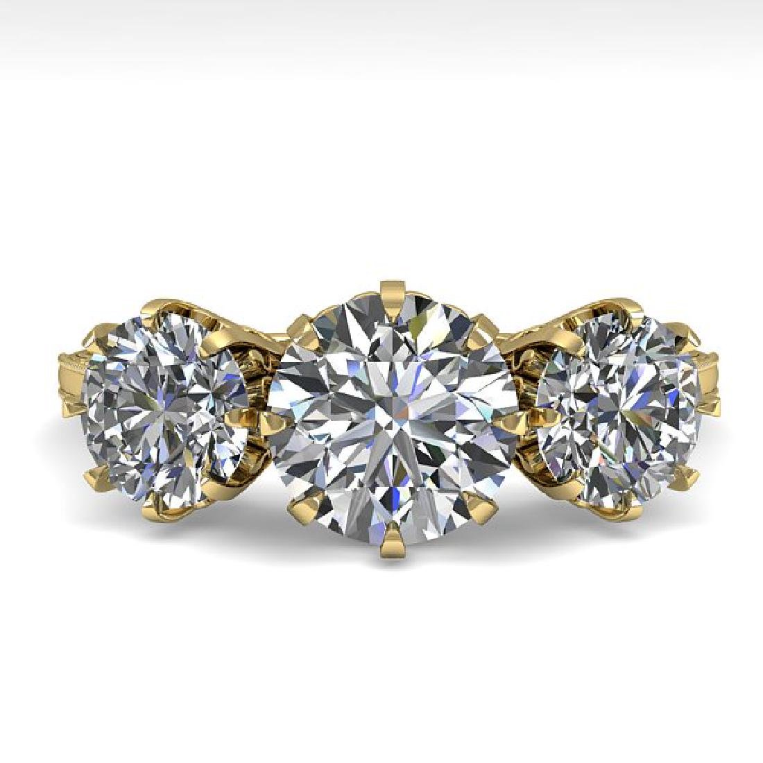 2 CTW Certified VS/SI Diamond Vintage Ring 14K Yellow