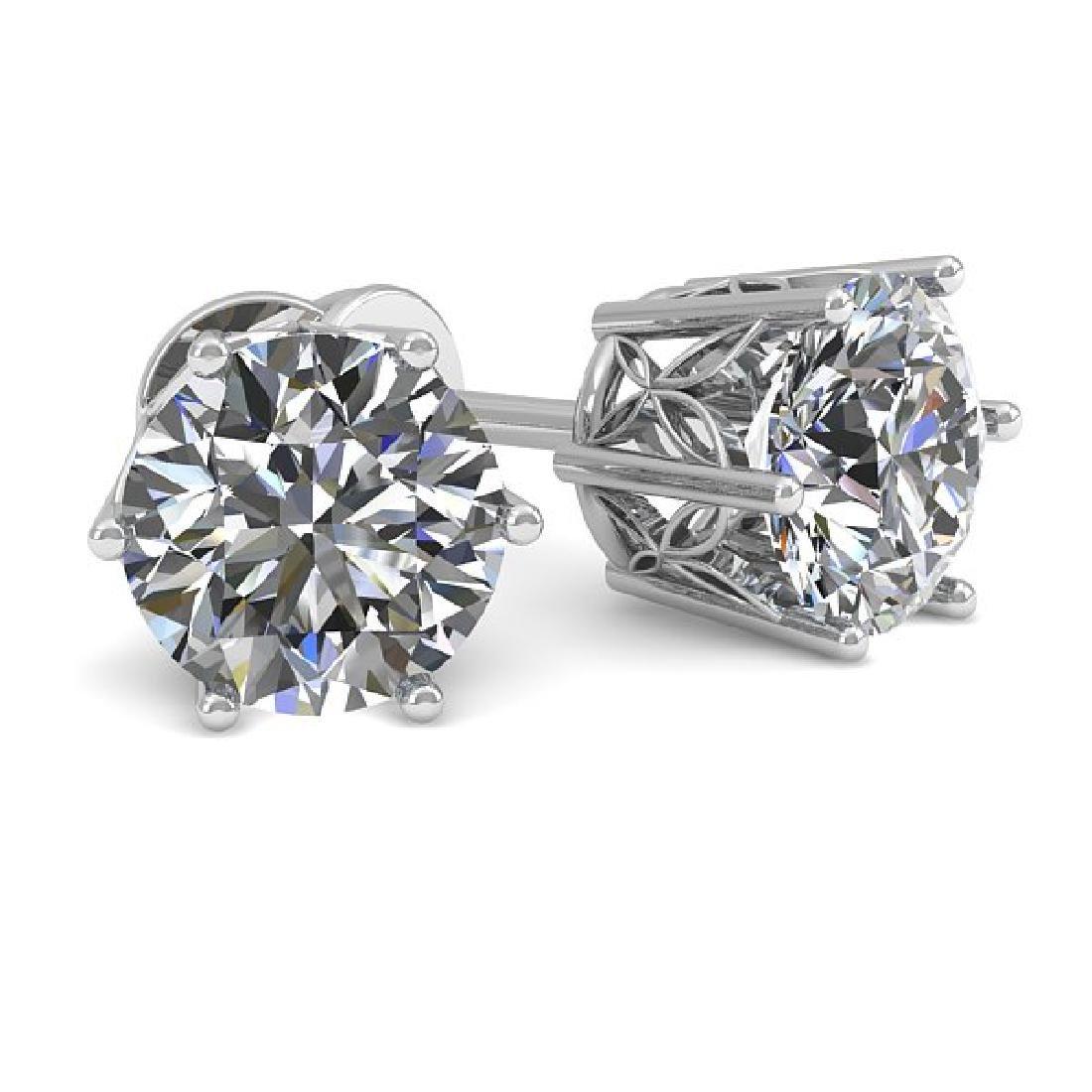 1.05 CTW Certified VS/SI Diamond Stud Art Deco Earrings