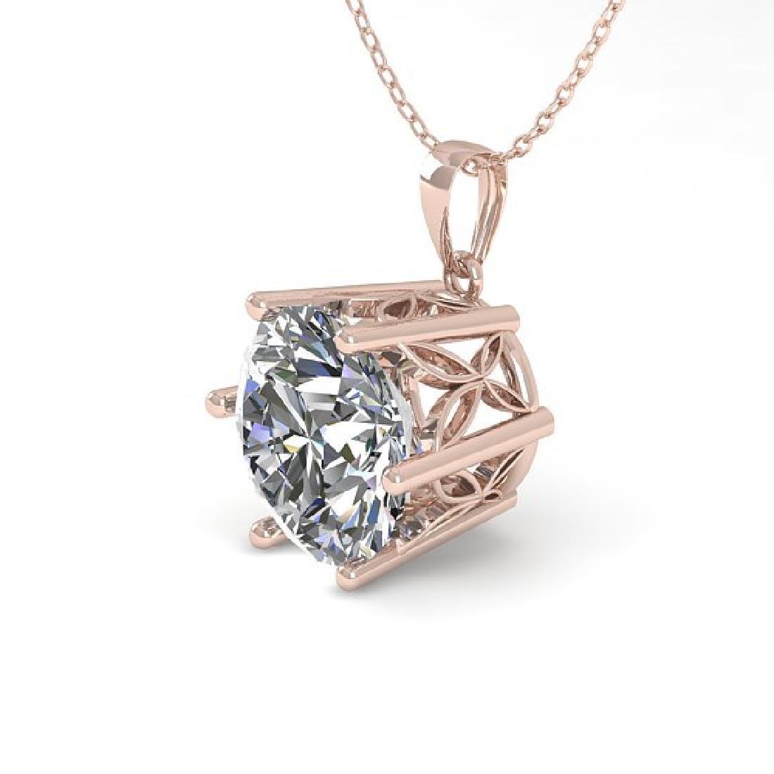 1 CTW Certified VS/SI Diamond Art Deco Necklace 14K