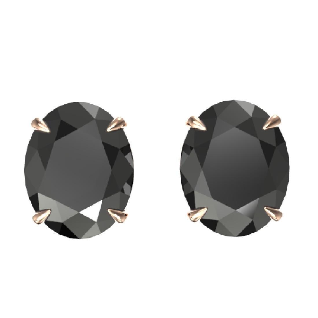 10 CTW Black VS/SI Diamond Designer Solitaire Stud