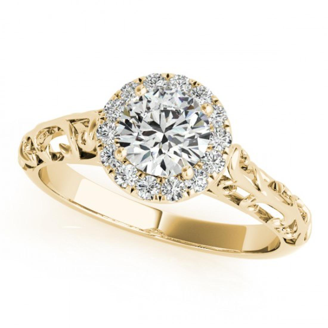 0.62 CTW Certified VS/SI Diamond Solitaire Antique Ring