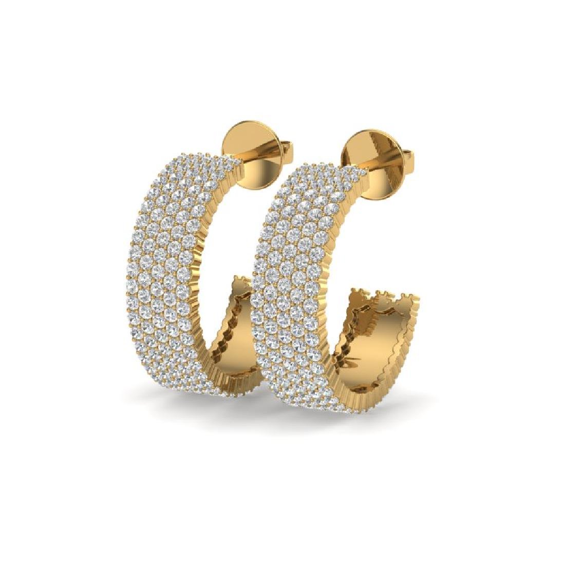 4.50 CTW Micro Pave VS/SI Diamond Earrings 14K Yellow