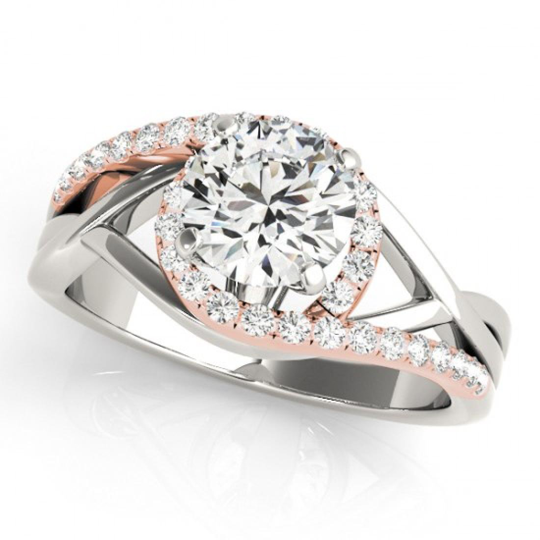 1.55 CTW Certified VS/SI Diamond Bypass Solitaire Ring
