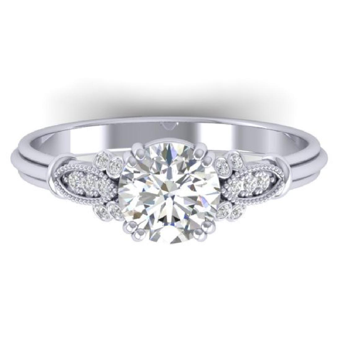 1.15 CTW Certified VS/SI Diamond Solitaire Art Deco