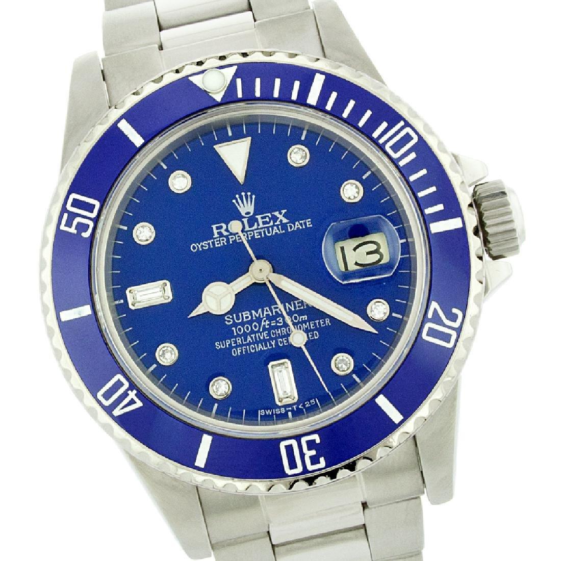 Rolex Men's Submariner, QuickSet, Diam Dial w/