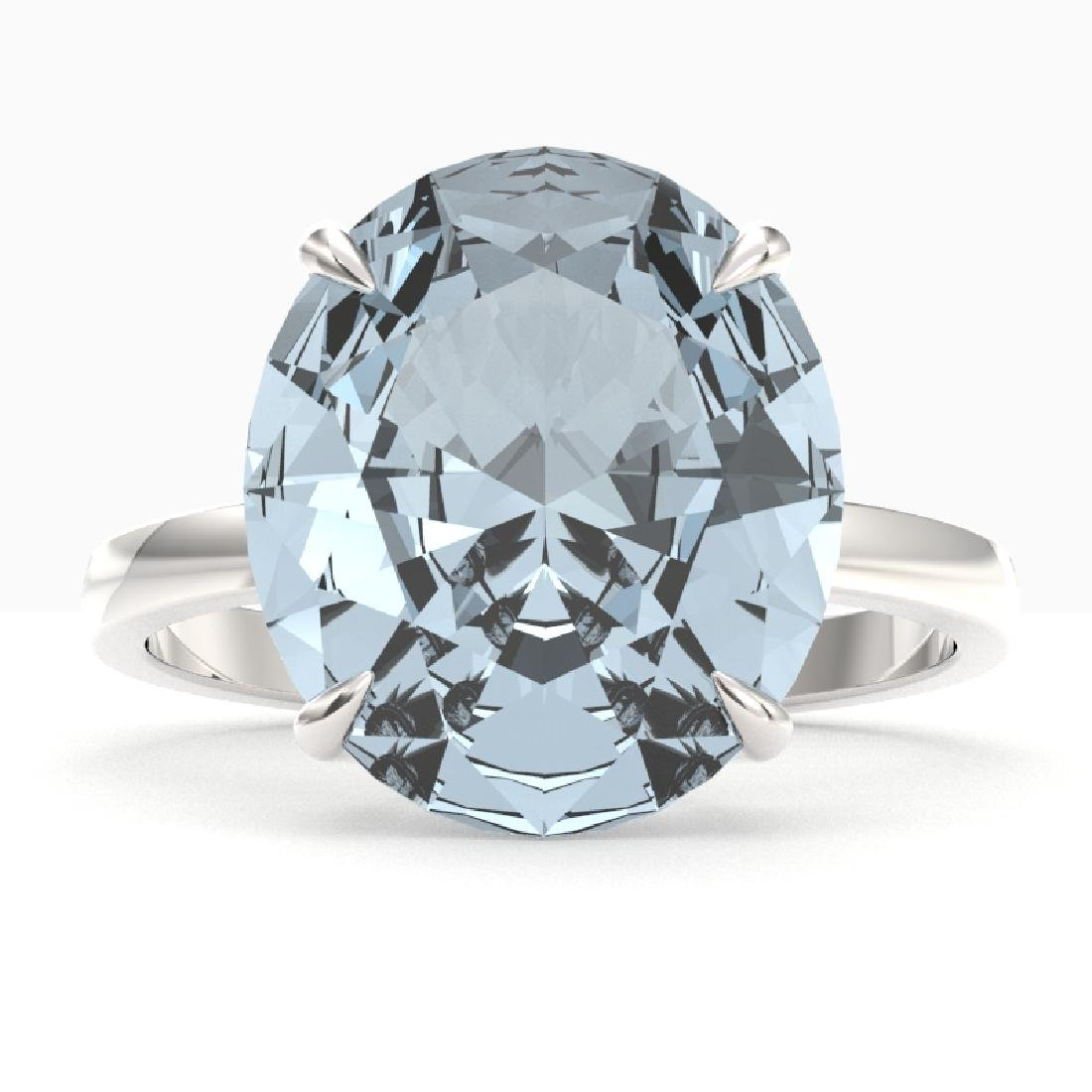 9 CTW Aquamarine Designer Solitaire Engagement Ring 18K