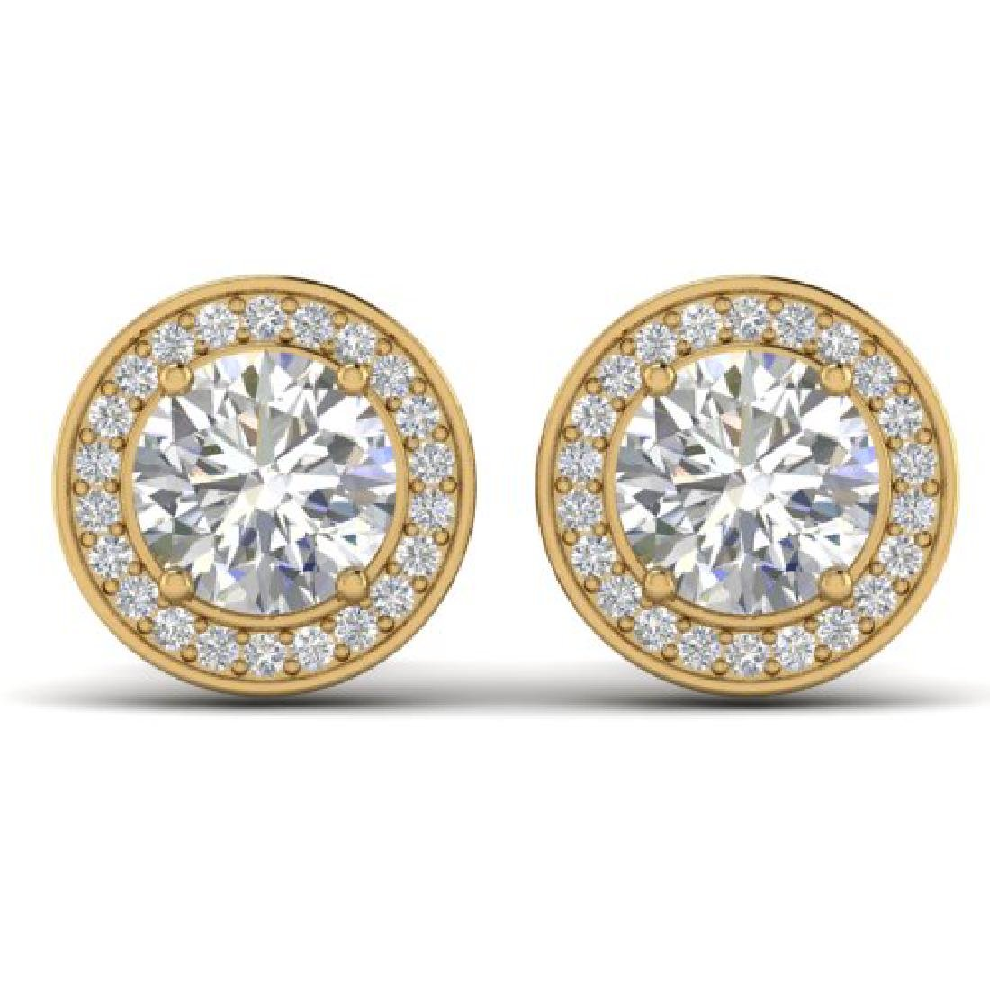 1.85 CTW I-SI Diamond Solitaire Art Deco Micro Stud