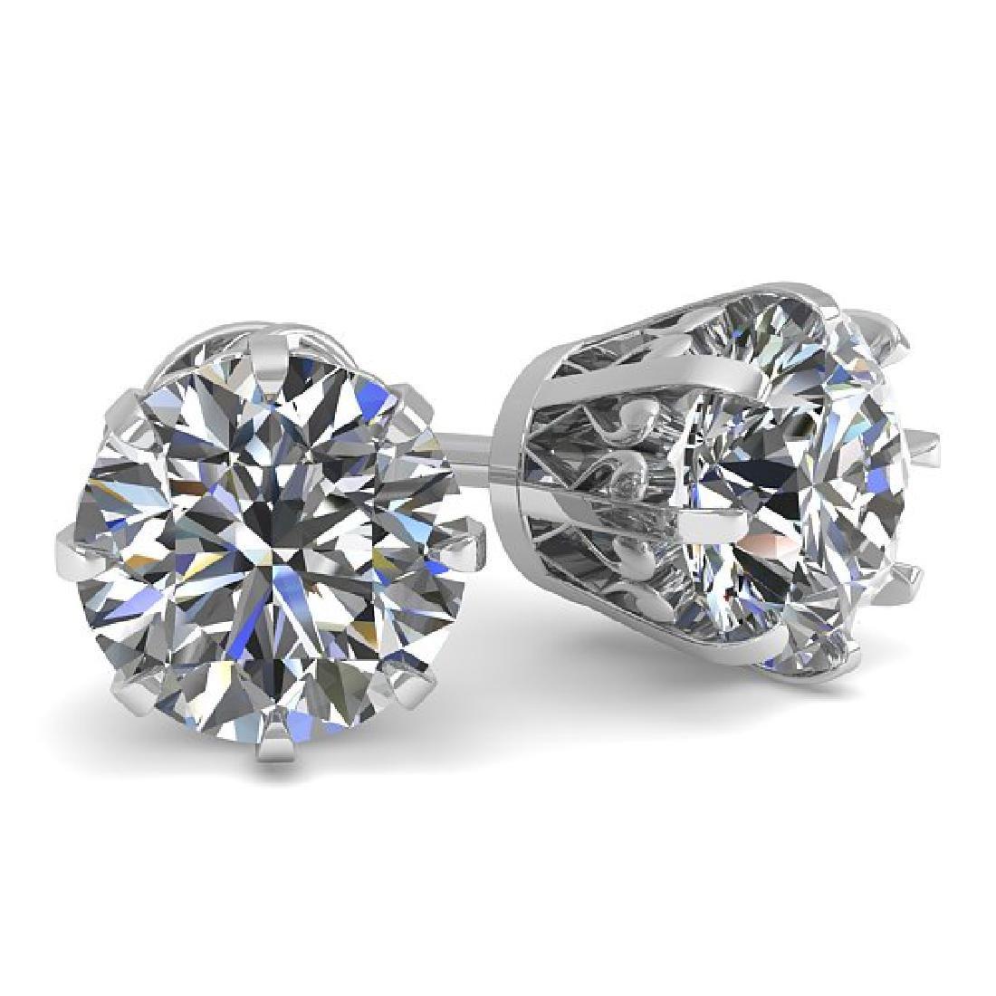 1.53 CTW VS/SI Diamond Stud Solitaire Earrings 14K