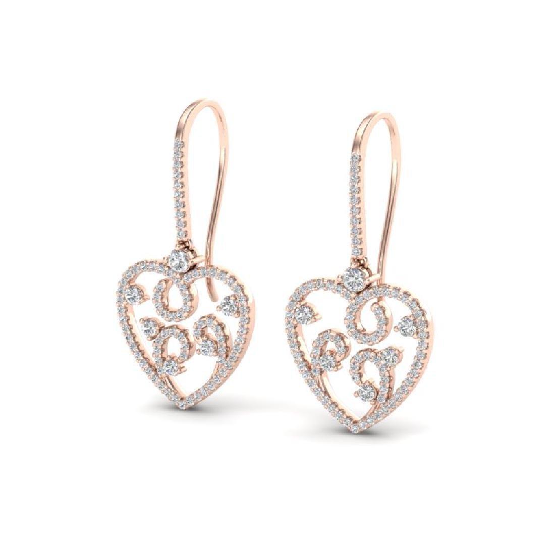 2.50 CTW VS/SI Diamond Micro Pave Designer Earrings 14K