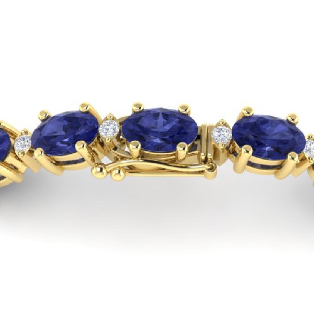 15 CTW Tanzanite & VS/SI Diamond Eternity Bracelet 10K