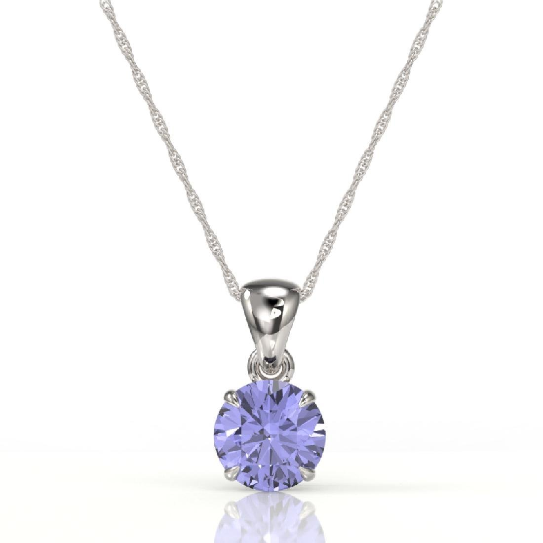 2 CTW Tanzanite Designer Inspired Solitaire Necklace - 2