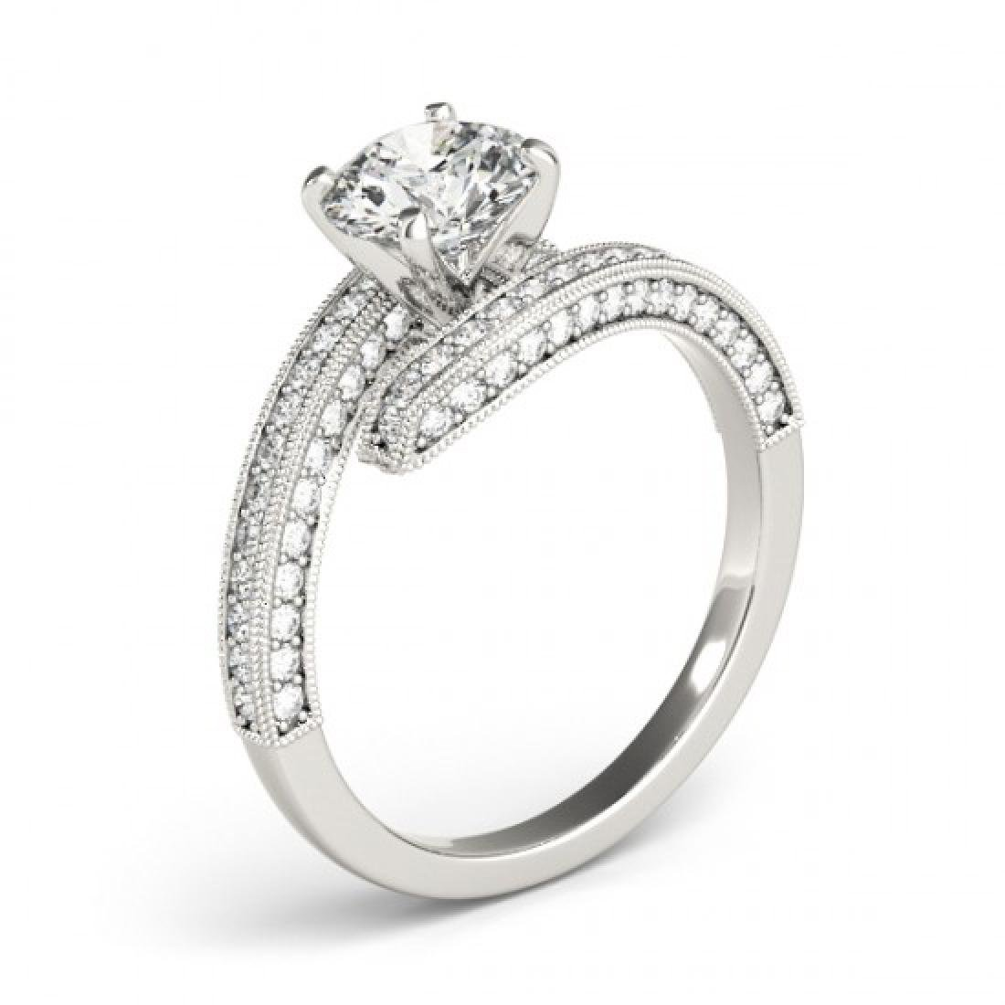 1.75 CTW Certified VS/SI Diamond Bypass Solitaire Ring - 3