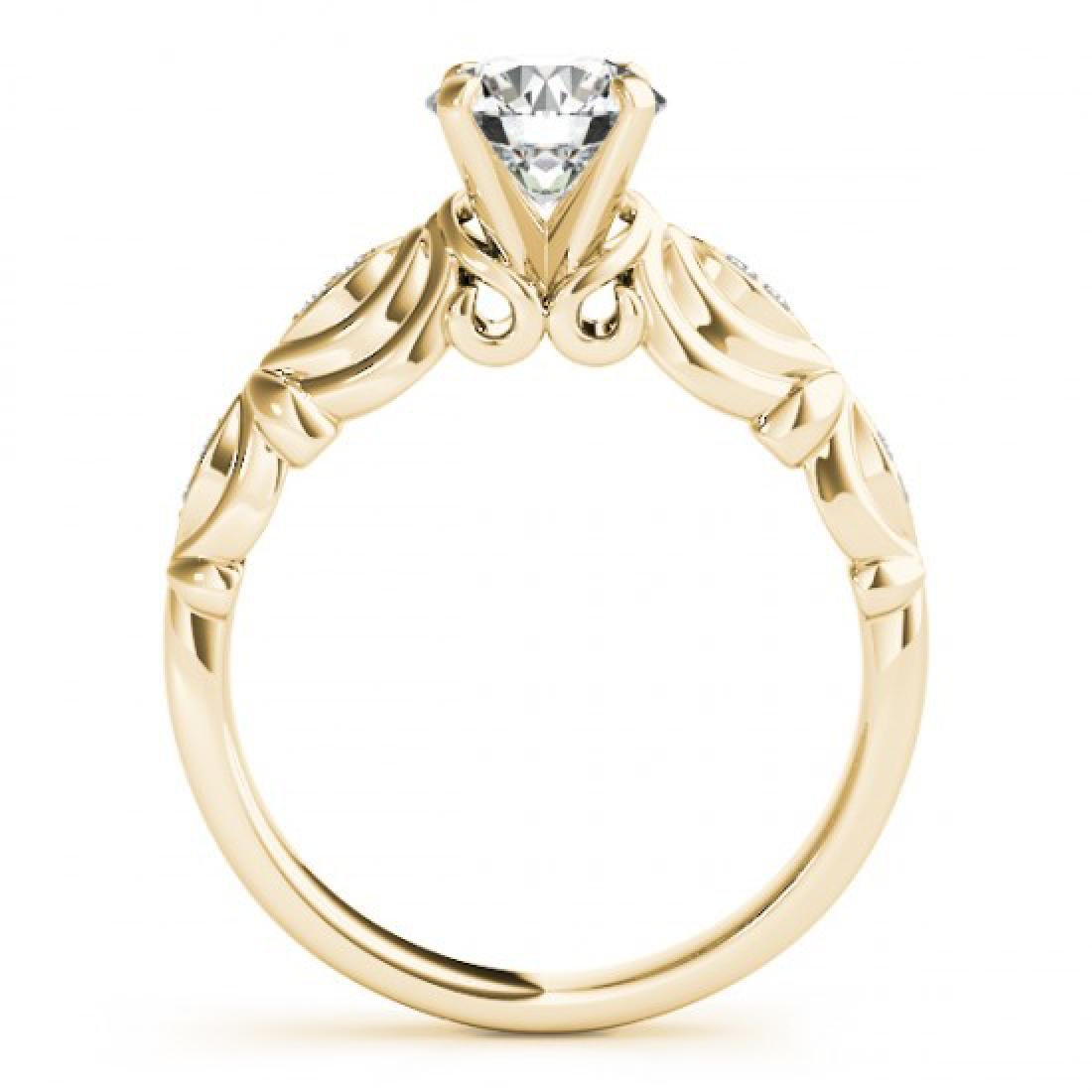 0.6 CTW Certified VS/SI Diamond Solitaire Antique Ring - 2