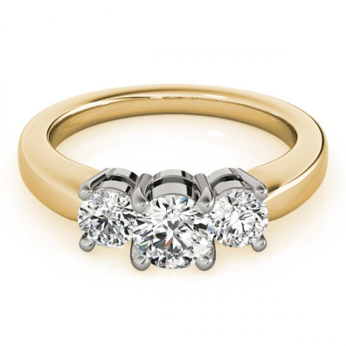 1.45 CTW Certified VS/SI Diamond 3 Stone Ring 14K