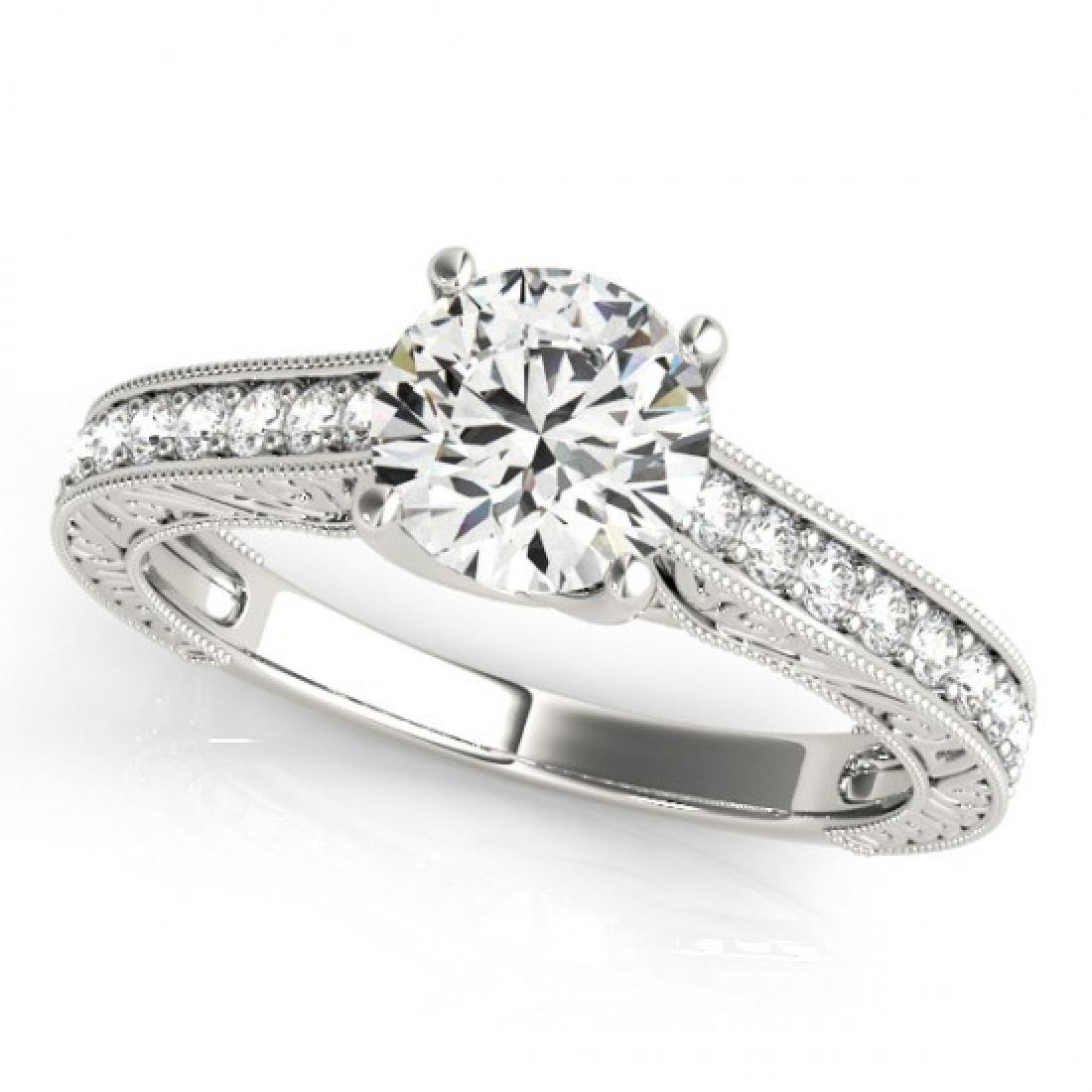 1.32 CTW Certified VS/SI Diamond Solitaire Ring 14K