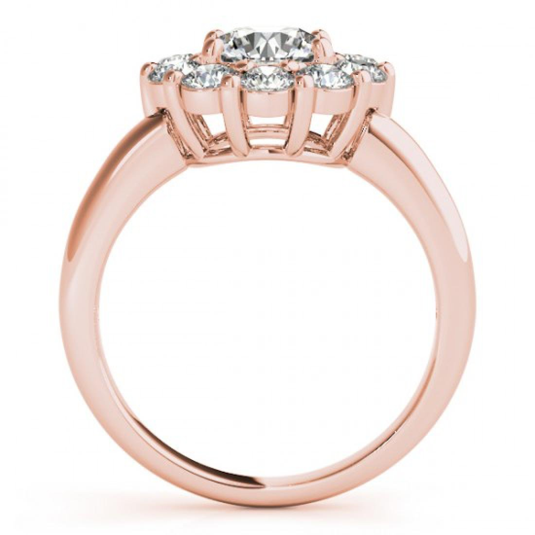 1.38 CTW Certified VS/SI Diamond Solitaire Halo Ring - 2