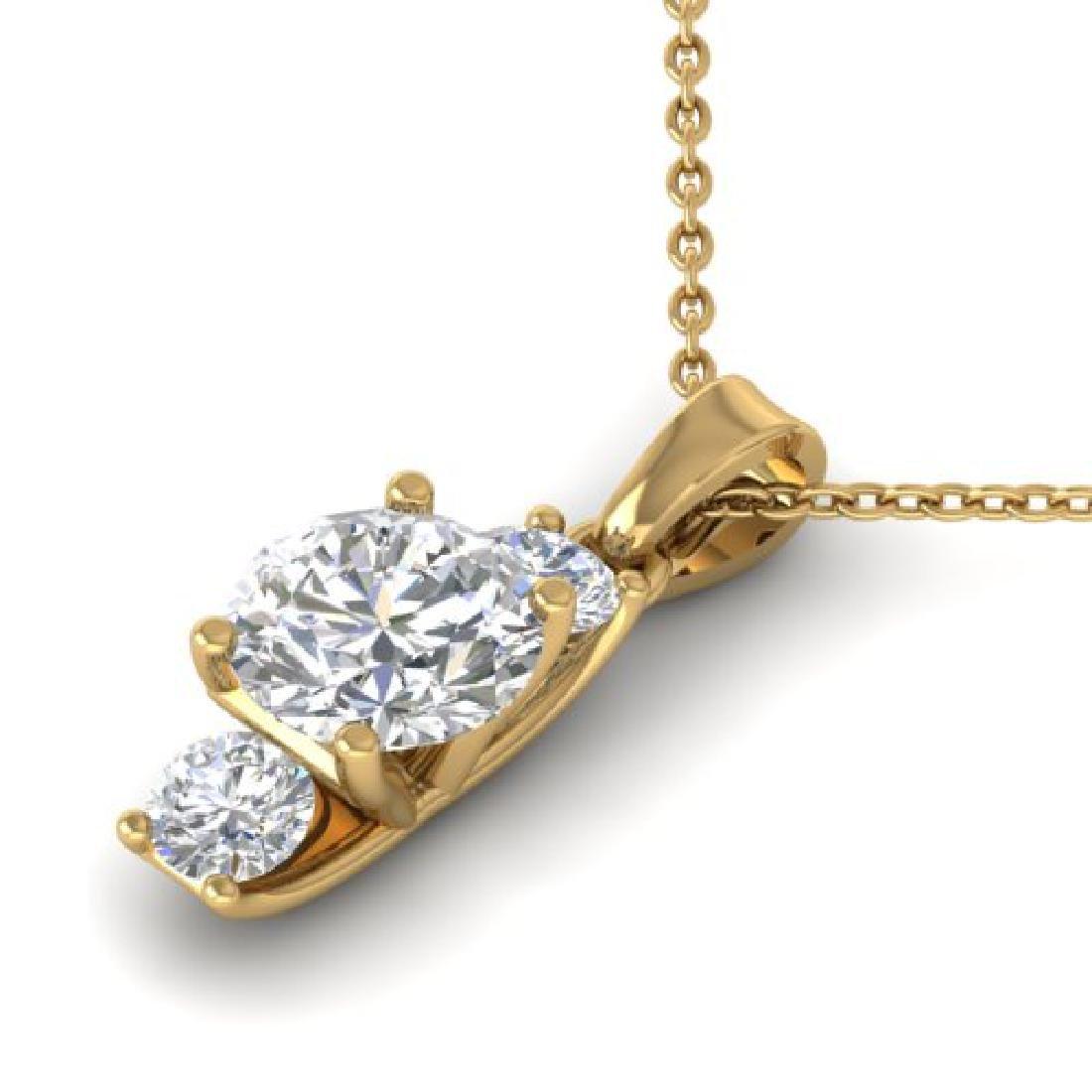 1.5 CTW Certified VS/SI Diamond Art Deco Stud Necklace - 2