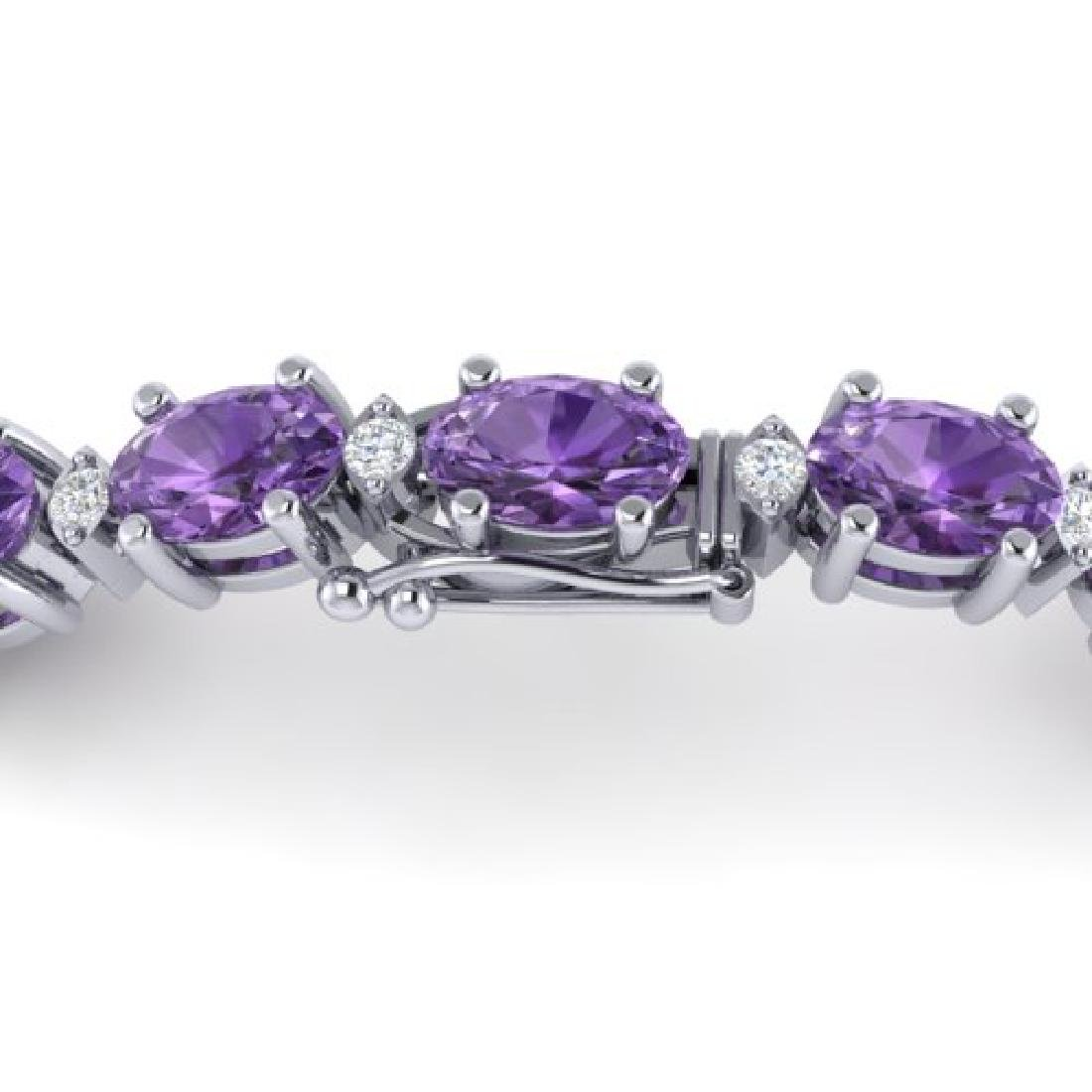 12 CTW Amethyst & VS/SI Diamond Eternity Bracelet 10K