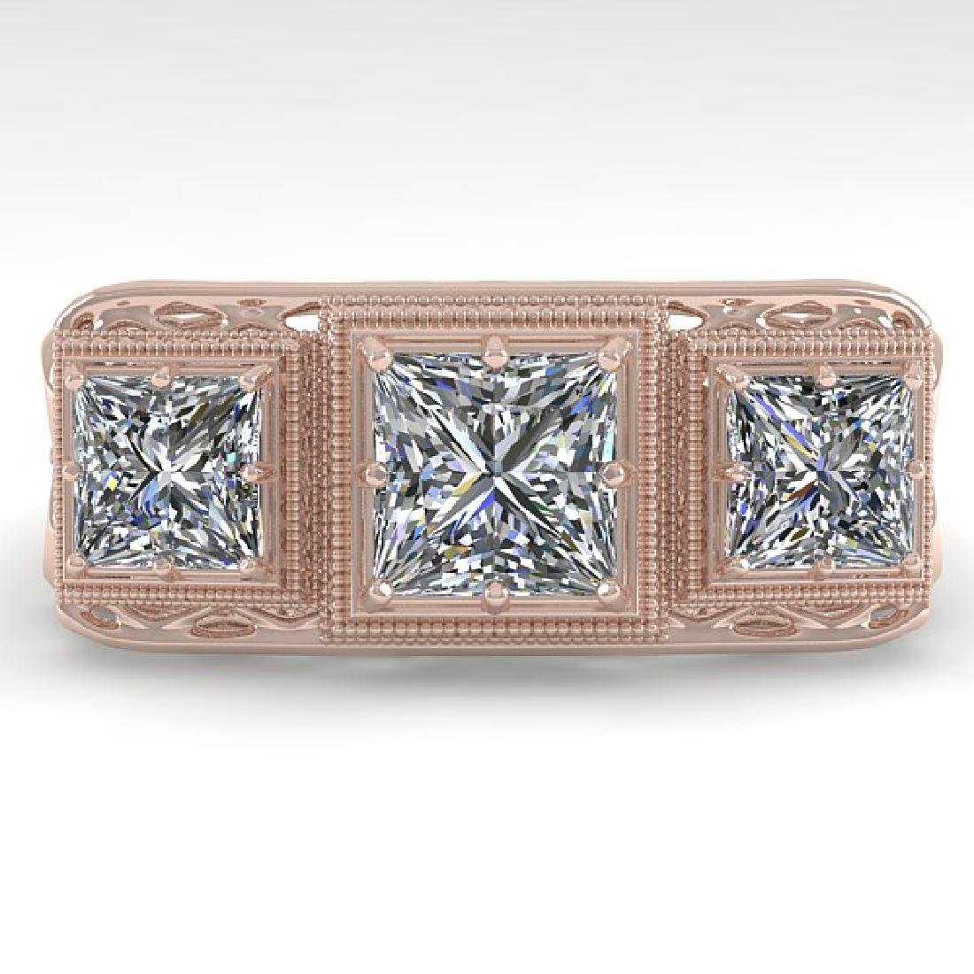 2 CTW VS/SI Princess Diamond Ring 14K Rose Gold