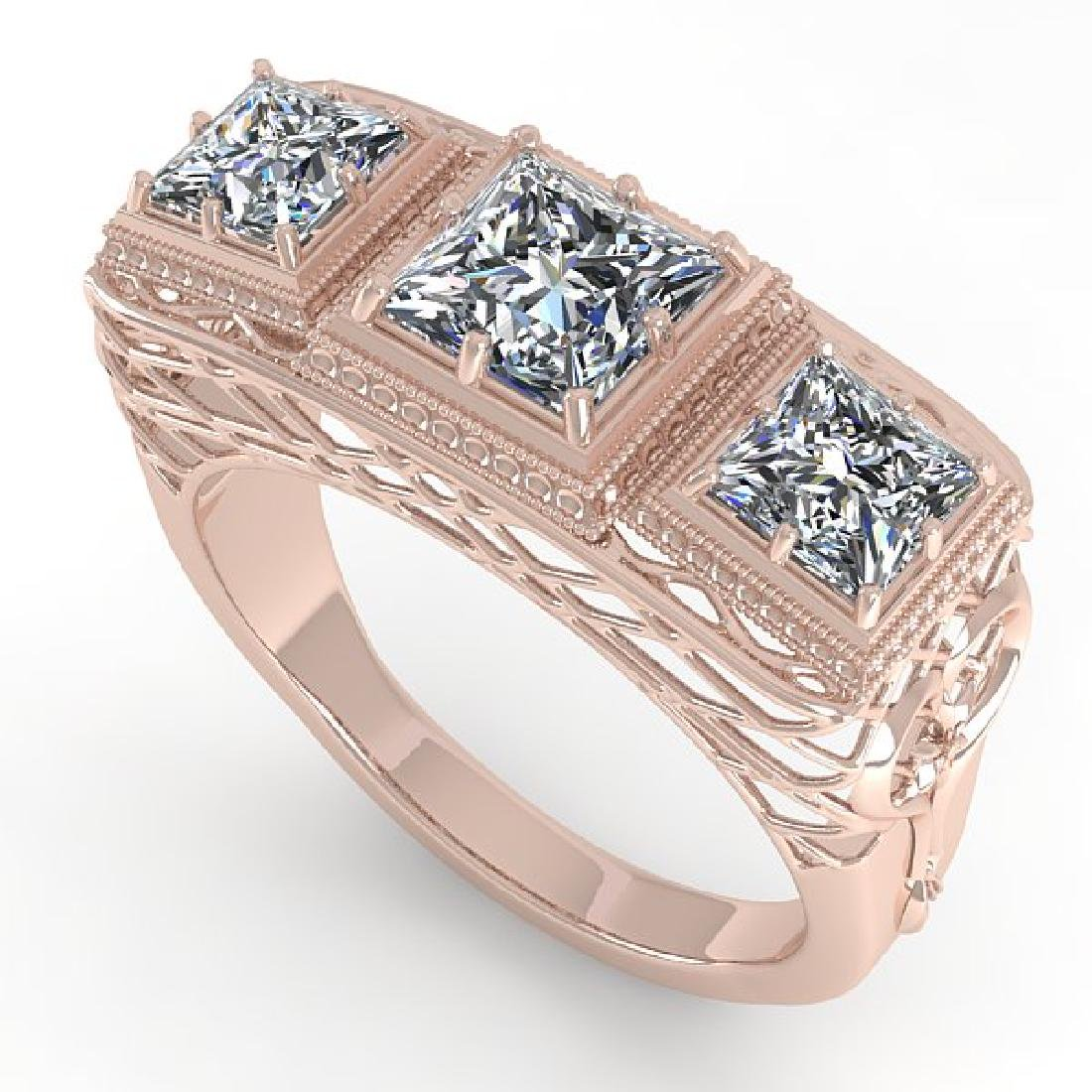 2 CTW VS/SI Princess Diamond Ring 14K Rose Gold - 2