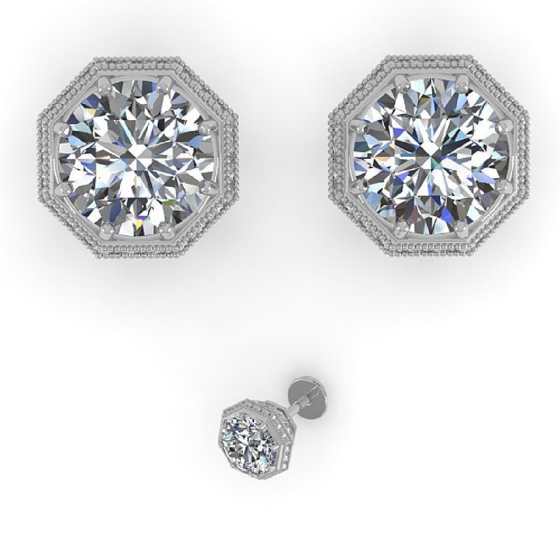 1.50 CTW Certified VS/SI Diamond Stud Earrings 14K - 2