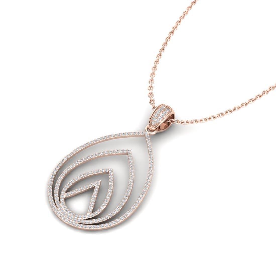 1.25 CTW Micro Pave VS/SI Diamond Designer Necklace 14K