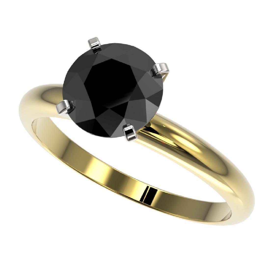 2.09 CTW Fancy Black VS Diamond Solitaire Engagement